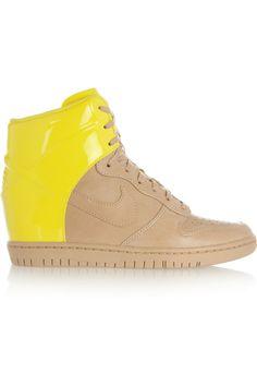 "NIKE ""Dunk Sky Hi leather wedge sneakers"""