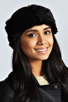 Lauren Faux Fur Headband at boohoo.com