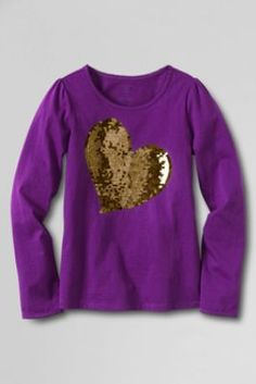 Girls'+Sparkle+Heart+Picot+Edge+Graphic+T-shirt+from+Lands'+End