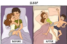 Cute illustrations that show how marriage life really does have great perks