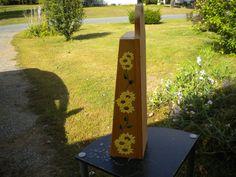 Sunflower shaker shelf acryllic painting by WoodnThingsNY12534