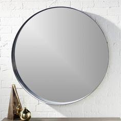 """crescent 32.5"""""""" round wall mirror"""