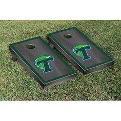 Victory Tailgate NCAA Cornhole Game Set NCAA Team: Tulane Green Wave, Color: Onyx