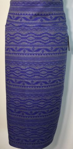 2XL PENCIL SKIRT $28 item 02221503 blue and grey soft and subtle but never boring!! Claim it with green order button at SHOPthePOPS.com