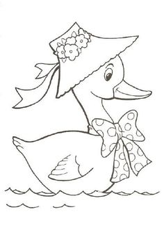 Duck color page, animal coloring pages, color plate, coloring sheet,printable coloring picture is part of Duck drawing - Free Printable Coloring Sheets, Coloring Sheets For Kids, Animal Coloring Pages, Coloring Books, Colouring, Bird Embroidery, Embroidery Patterns Free, Hand Embroidery Designs, Bird Drawings