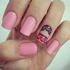 Nail Inks will provide you the most eyecatching nails that suits on your taste for your nails. Love Nails, Pink Nails, Pretty Nails, Gel Nails, Acrylic Nails, Nail Polish, Modern Nails, Short Nails Art, Nail Decorations