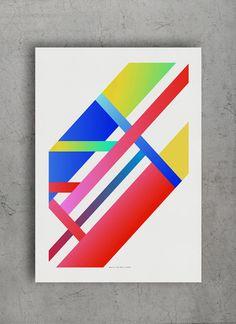 Color geometry II poster print www.thewallshop.co