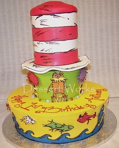 Tiered Seuss Cake!