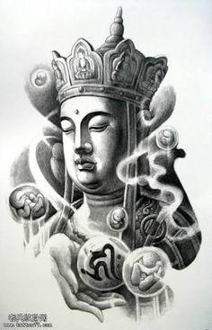 Resultado de imagem para mitologia budista - tatuagem