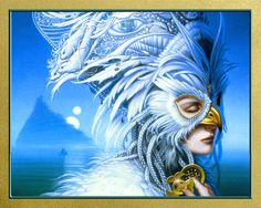 """Another fav cover by Michael Whelan, """"The Snow Queen"""" by Joan D. Vinge.  An excellent book."""