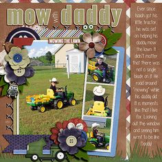 Mow with Daddy - Scrapbook.com