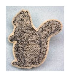 Handmade squirrel brooch - Kittens with Mittens