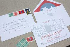 Custom event invitation / Nashville / letterpress design ©TennHens