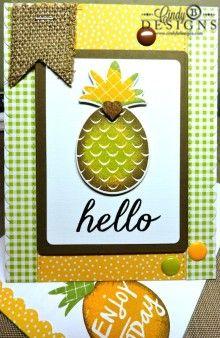 #cindybdesigns #reverseconfetti #pineapple #stamping #cards #cardmaking #papercrafts #papercrafting #burlap #hellocard #friendshipcard #hospitality #enamel dots #doodlebugdesign #handmade