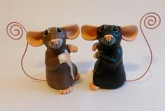 Custom memo rats from Philosophyfox Crafts....Are they the cutest ? They make cute gift ideas for rat lovers  everywhere !