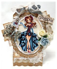 Kit and Clowder Online Colouring Classes: Cards for Sale! Copic Pens, Copics, Copic Markers, Distress Markers, Prima Doll Stamps, Coloring Tutorial, Online Coloring, Scrapbook Cards, Scrapbooking