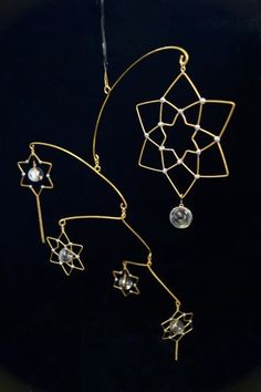 "glass brass mobile <starlight> - ""響"" handcraft"