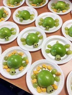 Healthy Sea Turtle Snacks for Kids – 🌿 T. Healthy Sea Turtle Snacks for Kids Hello everyone, Today, we have shown 🌿 T. Healthy Sea Turtle Snacks for Kids – Crafty Recipes Cute Snacks, Healthy Snacks For Kids, Cute Food, Good Food, Healthy Eating, Yummy Food, Fruit Snacks, Cute Kids Snacks, Lunch Snacks