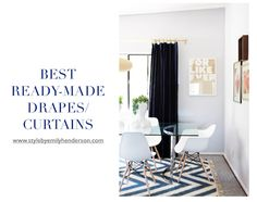 Here's my guide to the best ready-made inexpensive drapes or how to customize your own on a budget and still have them look unique and beautiful.