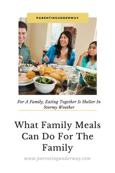 'For a family eating together is shelter in stormy weather'  The importance of family meals  #mealprep #familyeatingtogether