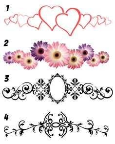 Arm Bands, Leg Bands, Ankle Bands, Floral, flower, victorian, monogram temporary tattoos. by PolkaDotzDesigns on Etsy