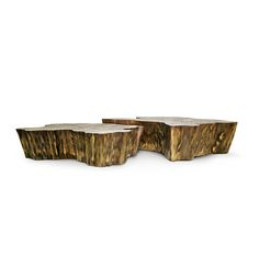 Made in melted metal and gold plated, Eden Patina is a modern design Center Table created by Boca do Lobo.