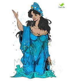 Yemaya Orisha, Yoruba People, Spirit World, People Art, Deities, Witchcraft, Disney Characters, Fictional Characters, Mermaid