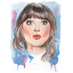 #zooeydeschanel #portrait #retrato #watercolor #aquarela