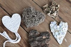 Rustic hearts from salvaged junk for Valentine's Day... or all year around! via FunkyJunkInteriors.net