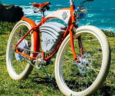 Get the attention of everyone on the street when you pass them by riding this vintage electric bicycle. This unique ride seamlessly merges together modern technology with classic styling to produce a bike that Pee-Wee Herman would drool over.