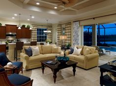 great furniture layout for lots of seating in this family room Gallery @ Charlene Neal: Pure Style