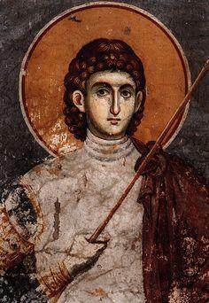 Procopie și a mamei sale Teodosia Byzantine Icons, Byzantine Art, Saints And Soldiers, Christ The King, Heaven Sent, Catholic Saints, Orthodox Icons, Sacred Art, Christian Art