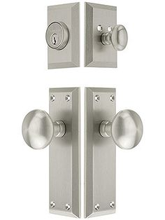 """Grandeur """"Fifth Avenue"""" Entry Set With Fifth Avenue Knobs 