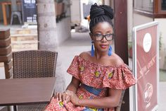 My off-shoulder African print dress. Nothing like a dress which makes you all woman. #africanprint #dresses