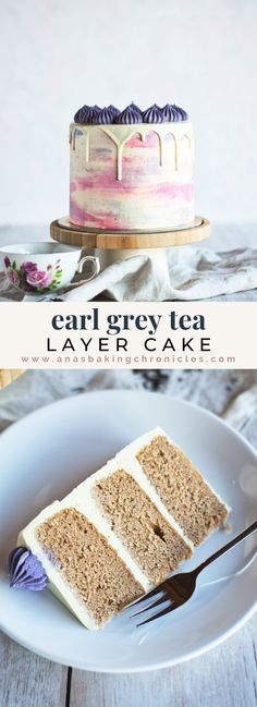 This delicious Earl Grey Cake is made with tea infused milk for a nice, earl grey flavour. Paired with orange cream cheese buttercream to bring the best out of beautiful aromas of bergamot in earl grey. This Earl Grey cake is a perfect spring cake! Baking Recipes, Cake Recipes, Dessert Recipes, Tea Cakes, Cupcake Cakes, Cupcakes, Best Cake Flavours, Birthday Cake Flavors, Spring Cake