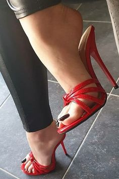 Women's footwear, cute sandals, shoes, high heels & more. Find out the perfect footwear for you. High Heels For Prom, High Heels Outfit, Red High Heels, High Heels Stilettos, Womens High Heels, Stiletto Heels, Sandals Outfit, Prom Shoes, Strappy Sandals Heels