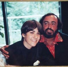 Happy Young David with Pavarotti