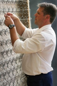Jan-Erik Leander heads up the Hästens' team of master craftsmen and has over 24 years of experience as a bed-maker.