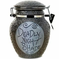Amazon.com: Disney Sally Deadly Nightshade Decanter Jar Nightmare Before Christmas Exclusive NEW:  They need a set of these for sugar and flour and such...!
