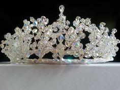 Handmade Swarovski Crystal Bridal Wedding Tiara