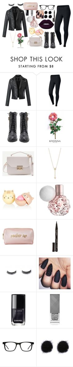 """""""dark"""" by kcastrojauregui on Polyvore featuring NIKE, Kiyonna, EF Collection, Neiman Marcus, Smith & Cult, Chanel, Burberry y GlassesUSA"""