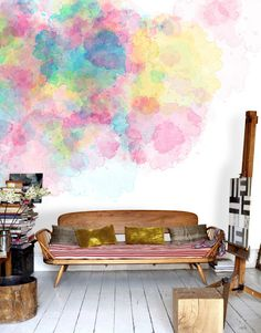 Watercolours - Colour Firework would be so great as a wallpaper for a tween room