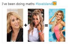 Mix it up: One user created a meme in which they claimed if you marred Kristen Wiig with Olivia, the result would be Laura's face Love Island, Beautiful Celebrities, Funny Posts, Texts, Tv Shows, Social Media, Face, Top, Funny Messages