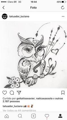 For my Owl lover! Love Tattoos, Body Art Tattoos, New Tattoos, Small Tattoos, I Tattoo, Baby Owl Tattoos, Owl Tattoo Drawings, Tattoo Sketches, Art Sketches