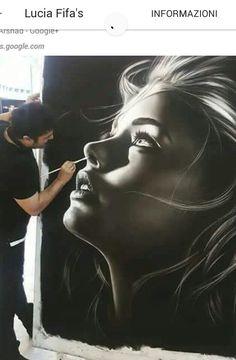 by Siyah Afshari Realistic Pencil Drawings, Unique Drawings, Cool Art Drawings, Realistic Oil Painting, Oil Painting Pictures, Painting & Drawing, Realism Art, Face Art, Erotic Art