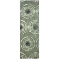 Handmade Soho Zen Grey/ Ivory New Zealand Wool Runner (2'6 x 10')