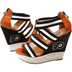 Cuce Shoes Philadelphia Flyers Women's Rookie 2 Sandals - Black/Brown - $63.99