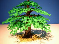 Small Easy LEGO Creations | Large Chestnut tree with swing
