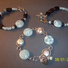 Lamp work beads made by Corina Tettinger.