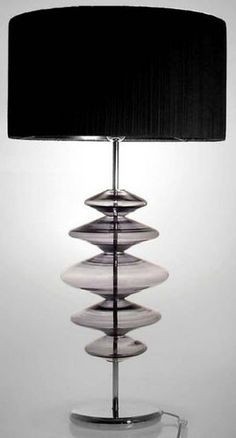 Lampada da tavolo moderna in vetro soffiato SAPPHIRE Crisbase Glass Export